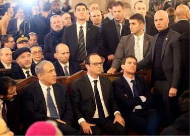 """Netanyahu's Safety in Paris"": Israel's Shin Bet Security Force Manhandled France's Prime Minister in Grand Synagogue, Netanyahu Insulted French Jewish Leadership 