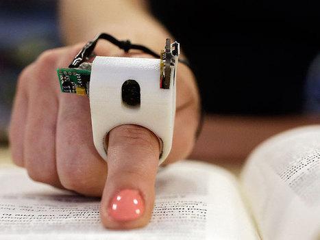 Anillo especial permite leer a los ciegos | Tecnología | Scoop.it