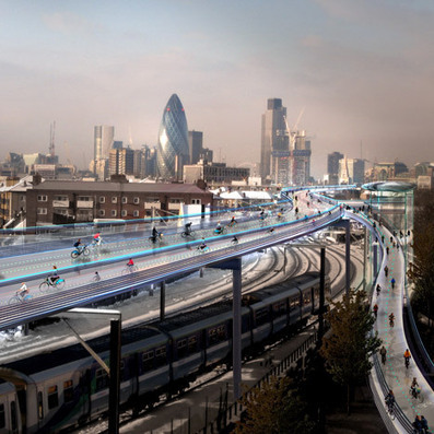 """Foster promotes """"cycling utopia"""" named SkyCycle above London railways   Urban Cycling Area   Scoop.it"""
