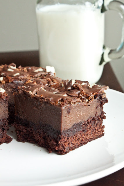 Minty Chocolate Mousse Brownies | Cocina 2 | Scoop.it