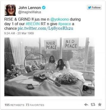 Funny:What if John Lennon was on Twitter? | John Lennon | Scoop.it