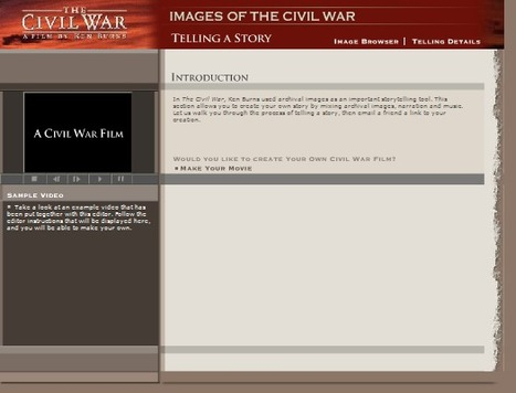 KB...Konnected - Ken Burns: The Civil War . Telling a Story gives students the opportunity to create their own Civil War story. | KB...Konnected's  Kaleidoscope of  Wonderful Websites! (Vol. 2) | Scoop.it