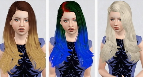Newsea`s Gisele hairstyle retextured by Beaverhausen | Sims 3 Downloads | Scoop.it