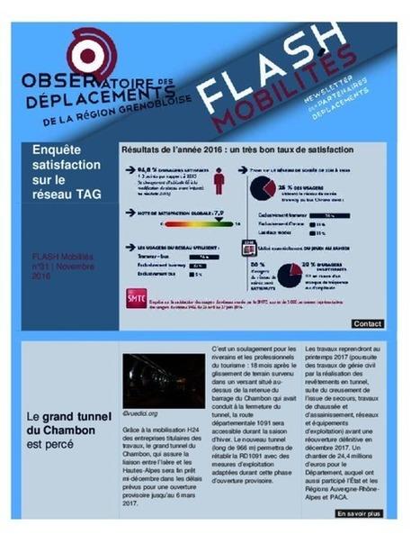 Grenoble - Flash Mobilités n°31, novembre 2016 | Dernières publications des agences d'urbanisme | Scoop.it