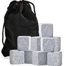 #4: Whiskey Rocks, Pack of 9 Soapstone Sipping Stones, Chilling Cubes, By Chuzy Chef | Best Refrigerators | Scoop.it