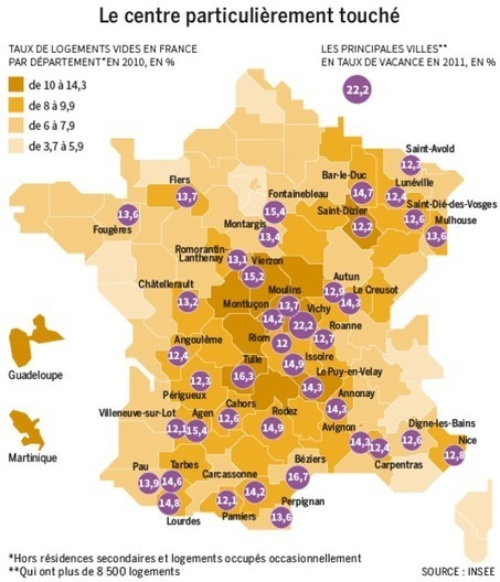 Ces villes minées par les logements vacants | Géographie : les dernières nouvelles de la toile. | Scoop.it
