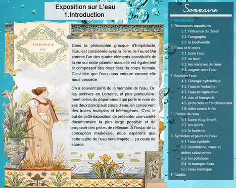 "Archives départementales de Meurthe-et-Moselle - Exposition ""L'eau"" 