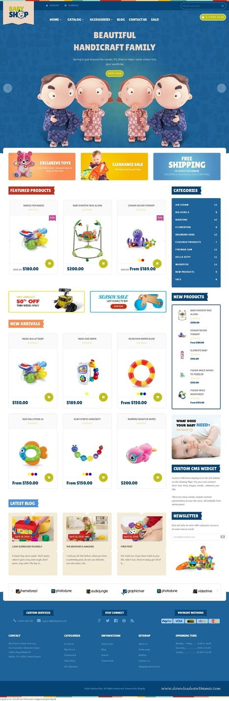 Baby Shop 3 in 1 Beautiful Shopify Theme Download | Creative Themes and Template Download | Scoop.it