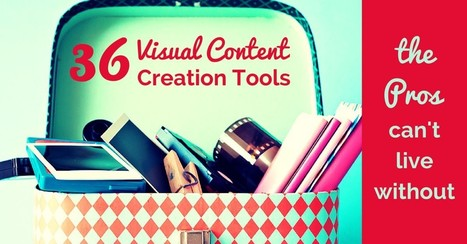 36 Visual Content Creation Tools the Pros Can't Live Without - Socially Sorted | digital marketing strategy | Scoop.it