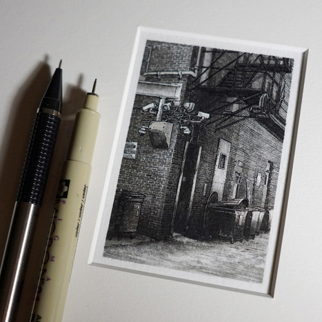 Miniature Pen & Ink Drawings of the Midwest by Taylor Mazer   Amazing art!   Scoop.it