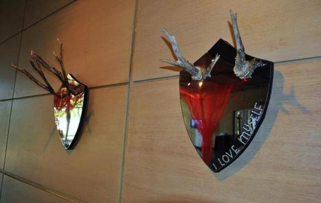 "Wela: mirrors ""I love nature"" & ""I love myself"" 