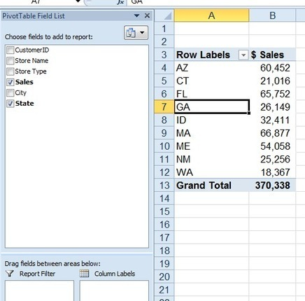 Excel PivotTable Field List Can Float! | FrankensTeam's Excel Collection | Scoop.it