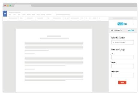 HelloFax for Google Docs | Time to Learn | Scoop.it