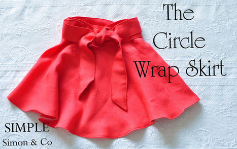 Simple Simon and Company: Wrap Skirt made from a Circle Skirt | Easy Sewing Projects for Kids | Scoop.it