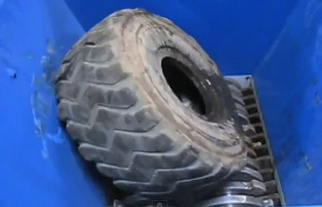 Watch one of the world's most powerful shredders eat a six-foot tall truck tire   The DATZ Blast   Scoop.it