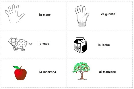 Printable Spanish Cards – Simple Associations | Spanish | Scoop.it