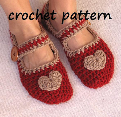 Mary Jane Slippers Crochet Pattern PDF,Easy, Great for Beginners, Shoes Crochet Pattern Slippers,  Pattern No. 22 | All about hand making | Scoop.it