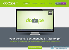 Doctape : un service de stockage en ligne prometteur | Geeks | Scoop.it