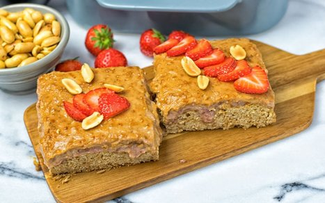 Peanut Butter and Strawberry Jelly Poke Cake [Vegan, Gluten-Free] | Vegan Food | Scoop.it