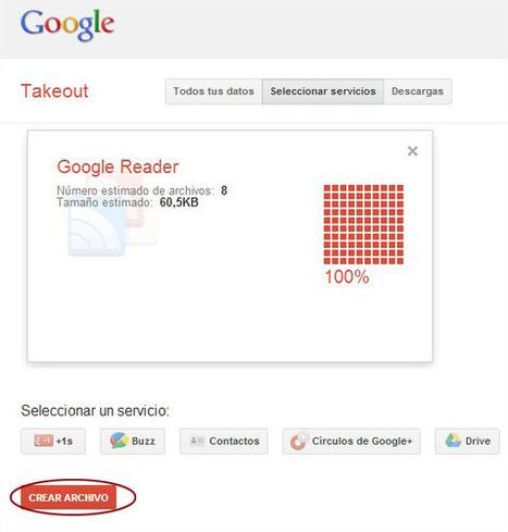 Exporta tus feeds de Google Reader [Tutorial] - Zona Seo | SEO, Social Media, SEM | Scoop.it