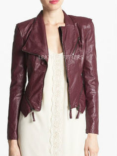 Crinkled Women Zippered Fall Jacket |Autumn – Fall Women Crinkled Leather Jacket | AUTUMN FALL FOR WOMEN | Scoop.it