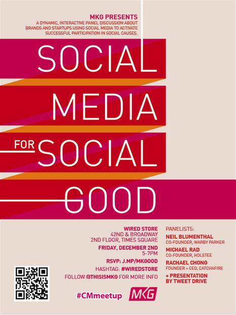 Social Media For Social Good | Social media and education | Scoop.it