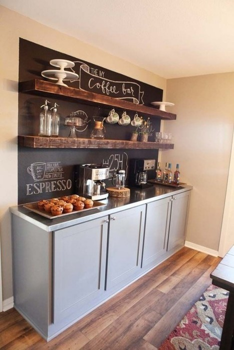 43 Stylish Home Coffee Stations To Get Inspired - DigsDigs | Upcycled Objects | Scoop.it
