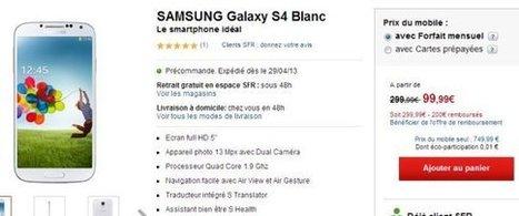 Samsung Galaxy S4: les forfaits Orange, Free, Bouygues et SFR   Radio Planète-Eléa   Scoop.it