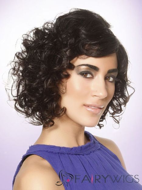 Great Finola Hughes Hairstyle Short Wavy Capless Human Wigs : fairywigs.com | Human Hair Wigs | Scoop.it