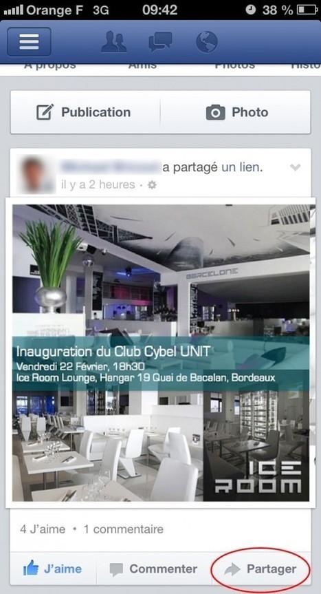 J'aime, je commente et je PARTAGE sur Facebook avec mon iPhone   Cybel UNIT - Le Club Officiel des Community Managers de France   Club Officiel des Community Managers de France   Scoop.it