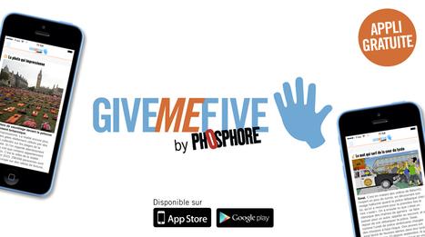 Give Me Five, application d'actualités dédiée aux 15-18 ans (5 actus à lire en 5 minutes tous les jours à 17h05) #EMI @BayardEditionsJ | Les ressources pédagogiques pour enseigner et apprendre avec le numérique | Scoop.it