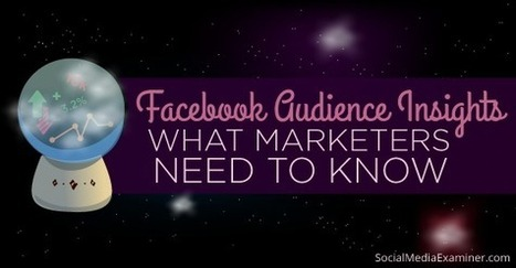 How to Use Facebook Audience Insights: What Marketers Need to Know | | Facebook | Scoop.it