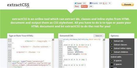 extractCSS, proyecto de código libre para extraer el CSS de cualquier documento HTML   Desarrollos Web   Scoop.it