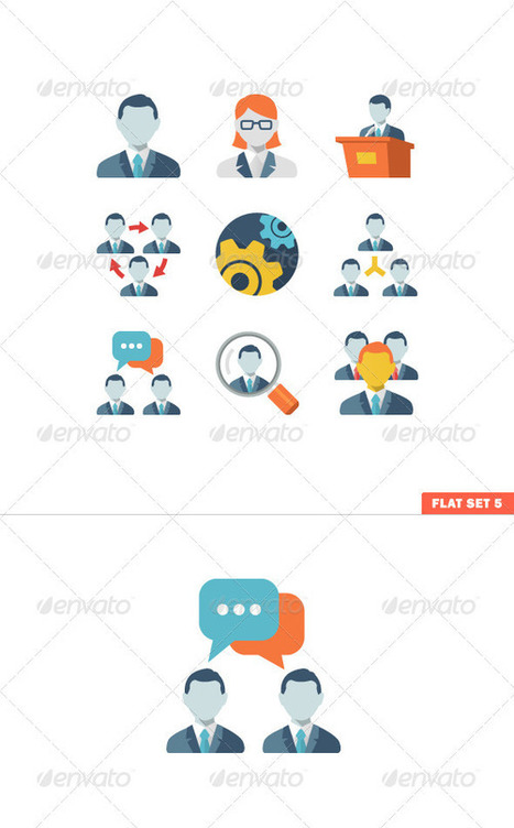Business People Flat Icons (Icons) | GFX Database | GFX Download | Scoop.it