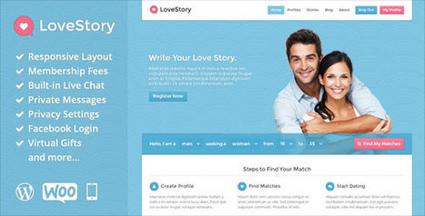 LoveStory v1.13 - Themeforest Dating WordPress Theme - Yocto Templates | YOCTO WordPress Themes & Plugins | Scoop.it