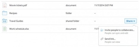 Dropbox adds share button to Web interface | Developing Apps | Scoop.it