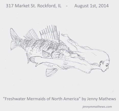 Zombie Logic: Poetry, Politics, Webcomics, Movies, Sports, Art, and Zombies: Freshwater Mermaid of North America   Illustration   Scoop.it