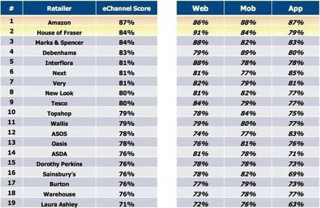 Amazon and House of Fraser top multichannel customer experience survey   ecommerce Crosscanal, Omnicanal, Hybride etc.   Scoop.it