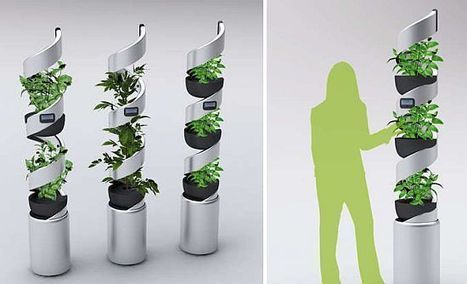 Elica Idroponica concept hydroponic planter doesn't need your care ... | Vertical Farm - Food Factory | Scoop.it