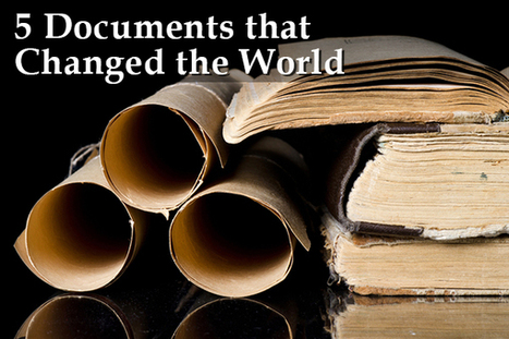 Five Documents that Changed the World (and Will Engage Your Students) | Primary Sources in the Classroom | Scoop.it