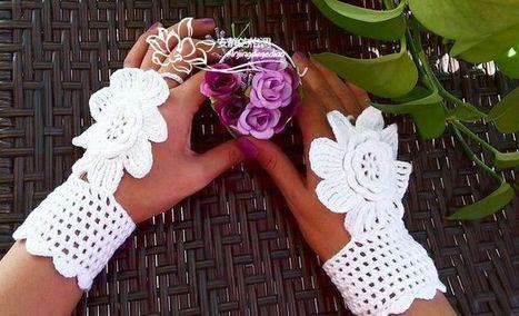 Crochet Mittens, Fingerless Gloves,Crochet Bracelet et item 1050 | Arts & Crafts | Scoop.it