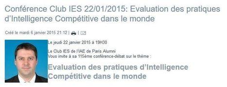 Compte rendu de la conférence de Christophe Bisson au Club IES : Intelligence Competitive | Veille et Intelligence Economique | Scoop.it