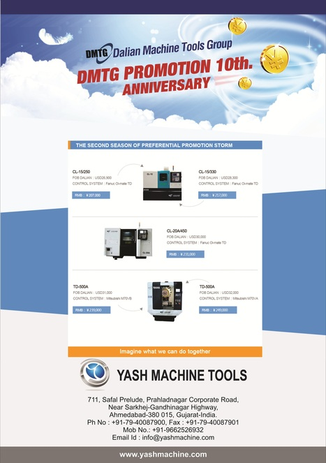 10th Annual Promotional Offer from DMTG at Yash Machine Tools   Lathe Machines   Scoop.it