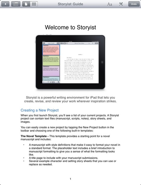 extended media: iPad App Test: Storyist Schreibprogramm | iPad:  mobile Living, Learning, Lurking, Working, Writing, Reading ... | Scoop.it