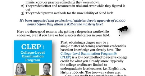Why Get a Degree.pdf | Higher Education | Scoop.it