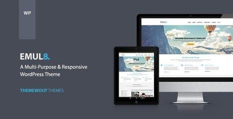 Emulate: Multi-purpose Responsive WordPress Theme Download | Best Wordpress Themes | Scoop.it