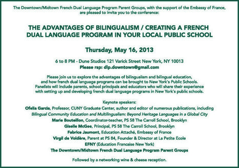 The advantages of bilingualism/Creating a French Dual Language program in your Local Public School - New York in French | ¡CHISPA!  Dual Language Education | Scoop.it
