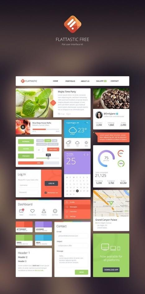 Flattastic UI Kit - Freebies - Fribly | Webdesign & Graphics | Scoop.it