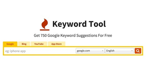 Keyword Tool: 750+ Google Keyword Suggestions for Free. Use 192 Google Domains & 83 Languages | Utility web content | Scoop.it