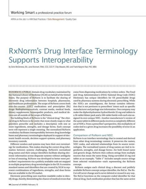 Journal of AHIMA - February 2013 - Page 44   EMR and EHR   Scoop.it